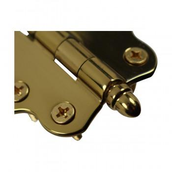 <PRE>Solid Brass Cabinet Hinge Vintage Helmet Tip 7/16H X 2W </PRE>zoom6