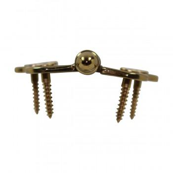 <PRE>Solid Brass Cabinet Hinge Vintage Helmet Tip 7/16H X 2W </PRE>zoom7