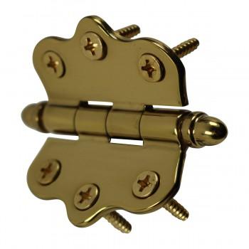 <PRE>Solid Brass Cabinet Hinge Vintage Helmet Tip 7/16H X 2W </PRE>zoom8