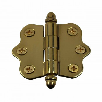 Ripple Brass Hinge Helmet Finials 1 7/16 in. H X 2 in. W.