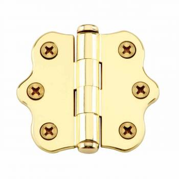 Ripple Brass Hinge Coin Finials 1 7/16 in. H X 2 in. W.