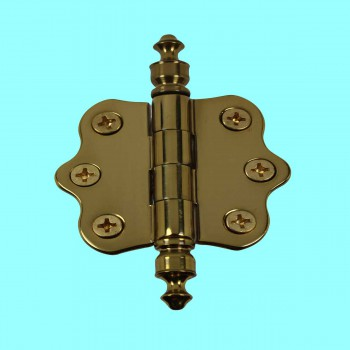 Door Hinges - Ripple Brass Hinge Urn Finials 1 7/16 in. H X 2 in. W. by the Renovator's Supply
