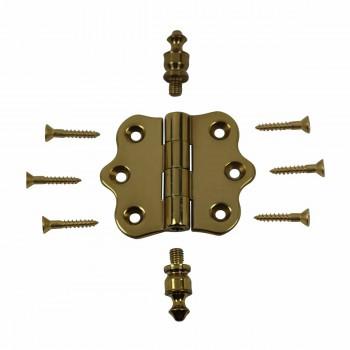 <PRE>Solid Brass Cabinet Hinge Vintage Urn Tip 7/16H X 2W </PRE>zoom3