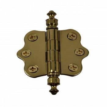 Solid Brass Cabinet Hinge Vintage Urn Tip 7/16H X 2W 14439grid