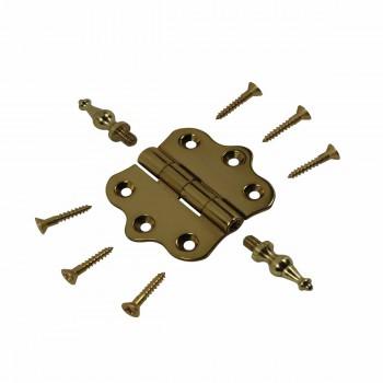<PRE>Solid Brass Cabinet Hinge Vintage Temple Tip 7/16H X 2W </PRE>zoom3