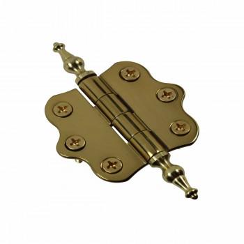 <PRE>Solid Brass Cabinet Hinge Vintage Temple Tip 7/16H X 2W </PRE>zoom4