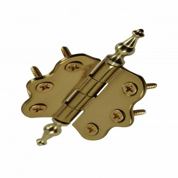 <PRE>Solid Brass Cabinet Hinge Vintage Temple Tip 7/16H X 2W </PRE>zoom5