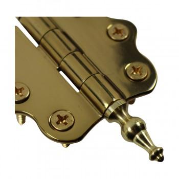 <PRE>Solid Brass Cabinet Hinge Vintage Temple Tip 7/16H X 2W </PRE>zoom7