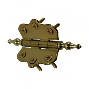 <PRE>Solid Brass Cabinet Hinge Vintage Temple Tip 7/16H X 2W </PRE>zoom9