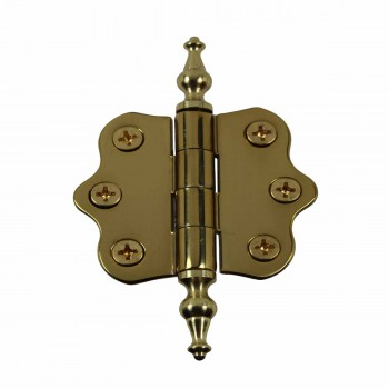 Solid Brass Cabinet Hinge Vintage Temple Tip 7/16H X 2W 14440grid