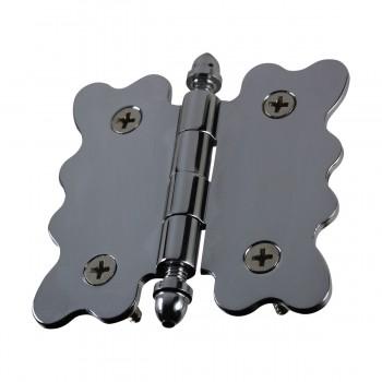 <PRE>Chrome Brass Cabinet Hinge Vintage Tip 2 3/4 X 2 7/8 </PRE>zoom4
