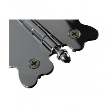 <PRE>Chrome Brass Cabinet Hinge Vintage Tip 2 3/4 X 2 7/8 </PRE>zoom5