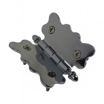 <PRE>Chrome Brass Cabinet Hinge Vintage Tip 2 3/4 X 2 7/8 </PRE>zoom7