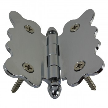 <PRE>Chrome Brass Cabinet Hinge Vintage Tip 2 3/4 X 2 7/8 </PRE>zoom8