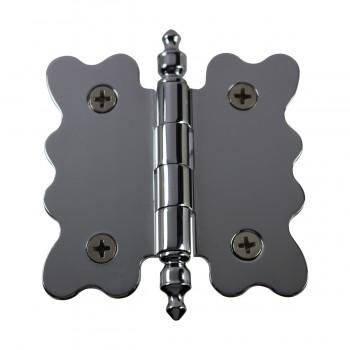 <PRE>Chrome Brass Cabinet Hinge Vintage Urn Tip 2 3/4 X 2 7/8 </PRE>zoom4