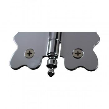 <PRE>Chrome Brass Cabinet Hinge Vintage Urn Tip 2 3/4 X 2 7/8 </PRE>zoom5