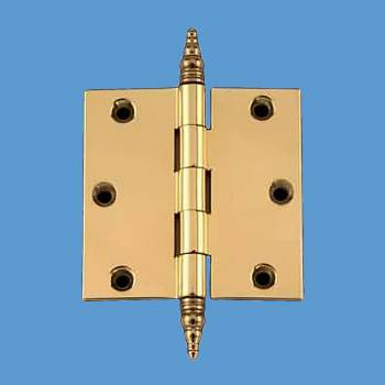 Door Cabinet Hinge 3 x 3 Solid Brass Steeple Tip Door Hinge