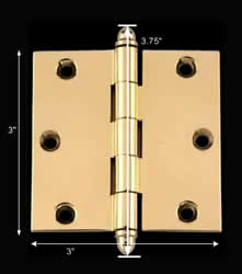 "spec-<PRE>Bright Solid Brass 3""x3"" Square Hinge 92080/92161</PRE>"