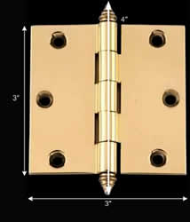 "spec-<PRE>Door Cabinet Hinge 3"" x 3"" Square Solid Brass Decor Tip </PRE>"