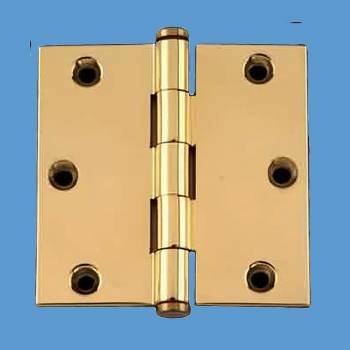 <PRE>Door Cabinet Hinge 3&quot; x 3&quot; Square Solid Brass Coin Tip </PRE>