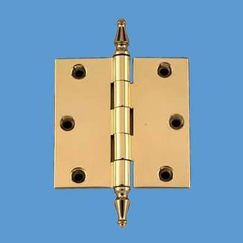 <PRE>3inch Square Door Cabinet Hinge Solid Brass Spire Finial </PRE>zoom2