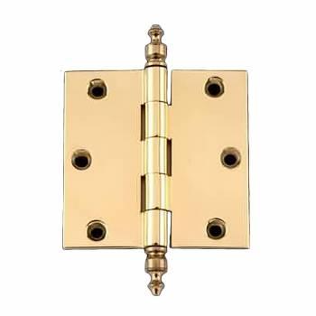 <PRE>3 in Cabinet Hinge Door Hinge Square Solid Brass Urn Finial</PRE>zoom1