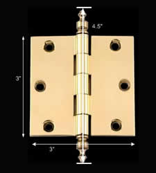 spec-<PRE>3 in Cabinet Hinge Door Hinge Square Solid Brass Urn Finial</PRE>