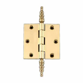 Solid Brass Door or Cabinet Hinge Steeple 3 1/2