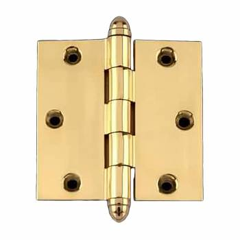 <PRE>Solid Brass Door or Cabinet Hinge Helmet Tip 3 1/2inch </PRE>zoom1