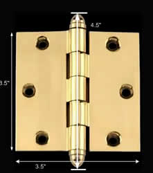 "spec-<PRE>Solid Brass Door or Cabinet Hinge Helmet Tip 3 1/2"" </PRE>"