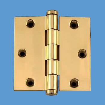 <PRE>Solid Brass Door or Cabinet Hinge Coin Tip 3 1/2inch </PRE>zoom2