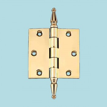 <PRE>Solid Brass Door or Cabinet Hinge Spire Tip 3 1/2inch </PRE>zoom2