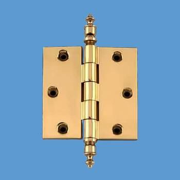 Solid Brass Door or Cabinet Hinge Urn Tip 3 12 Door Hinges Door Hinge Solid Brass Hinge
