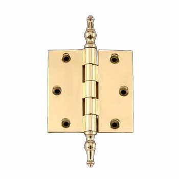 Solid Brass Door or Cabinet Hinge Temple Tip 3 1/2
