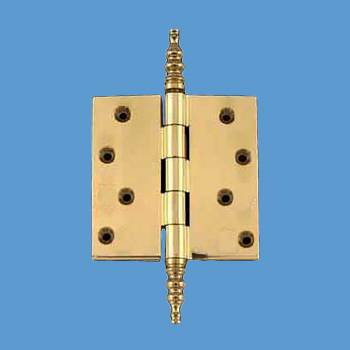 <PRE>Solid Brass Door or Cabinet Hinge Steeple 4inch </PRE>zoom2