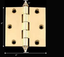"""spec-<PRE>Solid Brass Door or Cabinet Hinge Decor Tip 4"""" </PRE>"""