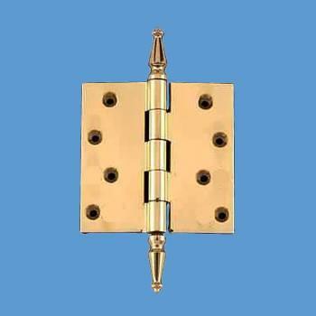 <PRE>4inch Solid Brass Door or Cabinet Hinge Spire Tip </PRE>zoom2