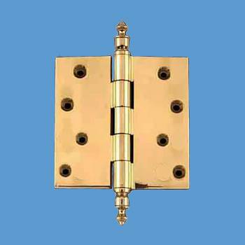 <PRE>Solid Brass Door or Cabinet Hinge Urn Tip 4inch </PRE>zoom2