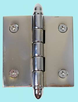 Chrome Solid Brass Cabinet Hinge Helmet Tip 2 Door Hinges Door Hinge Solid Brass Hinge