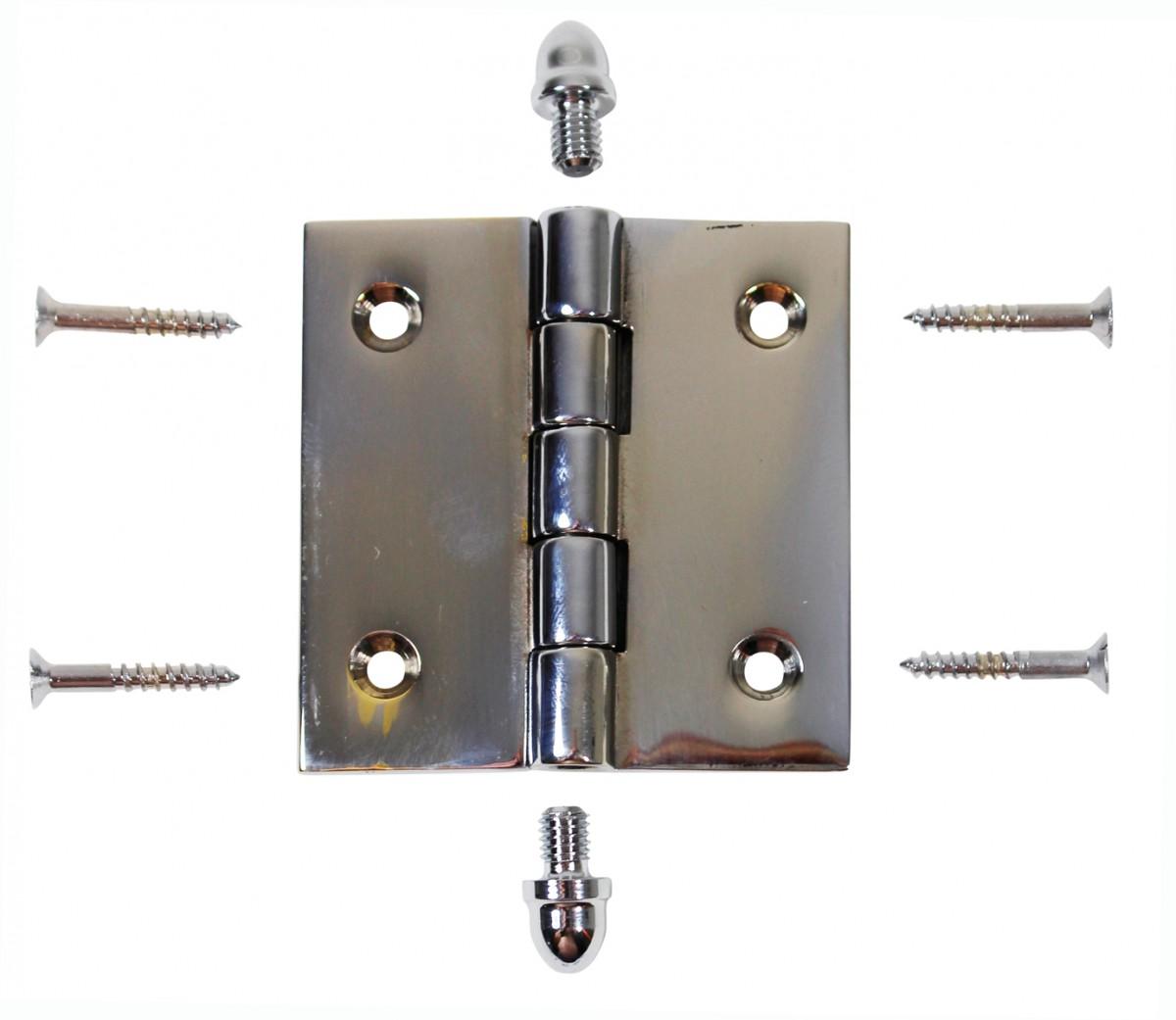 Chrome Solid Brass Cabinet Hinge Helmet Tip 2 Door Hinges Door Hinge Solid Brass Hinge