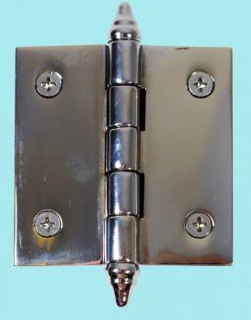 <PRE>Chrome Solid Brass Cabinet Hinge Decor Tip 2inch </PRE>zoom2