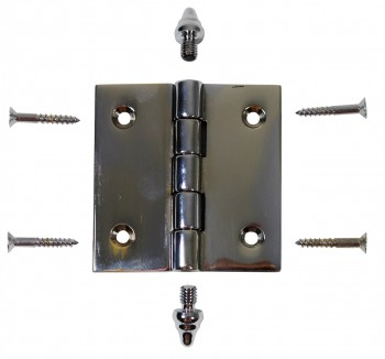 <PRE>Chrome Solid Brass Cabinet Hinge Decor Tip 2inch </PRE>zoom3