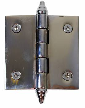 Chrome Solid Brass Cabinet Hinge Decor Tip 2