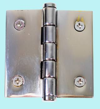2 Cabinet Hinge Chrome Brass Coin Finials Door Hinges Door Hinge Solid Brass Hinge