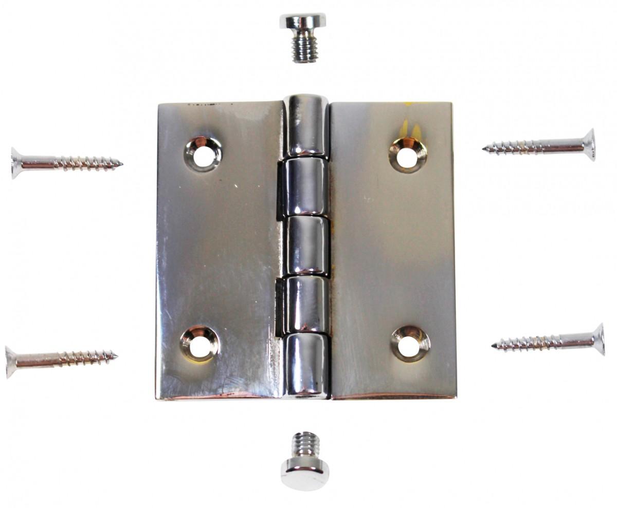 2 Cabinet Hinge Chrome Brass Coin Finials Door Hinges Door Hinge Solid Brass Hinge