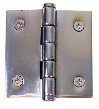 <PRE>2inch Cabinet Hinge Chrome Brass Coin Finials </PRE>zoom1