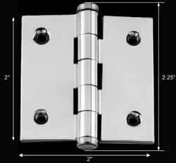 spec-<PRE>2&quot; Cabinet Hinge Chrome Brass Coin Finials </PRE>