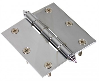 Chrome Solid Brass Cabinet Hinge Steeple Tip 3 Door Hinges Door Hinge Solid Brass Hinge