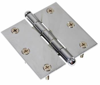 Chrome Solid Brass Cabinet Hinge Button Tip 3 Door Hinges Door Hinge Solid Brass Hinge