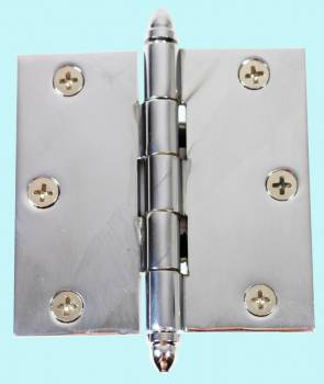 Chrome Solid Brass Cabinet Hinge Helmet Tip 3 Door Hinges Door Hinge Solid Brass Hinge